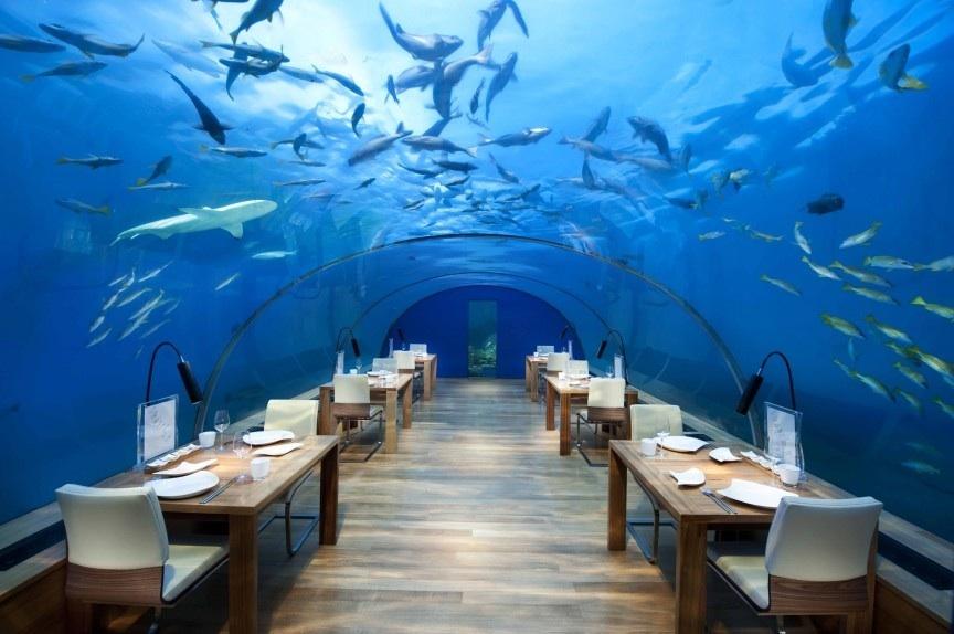 Unterwasser-Restaurant auf den Malediven