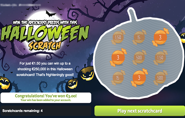 Halloween Scratch – Win €250,000 Instantly