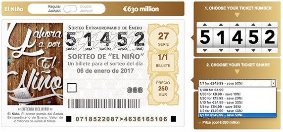 Spanish El Niño Lottery Ticket