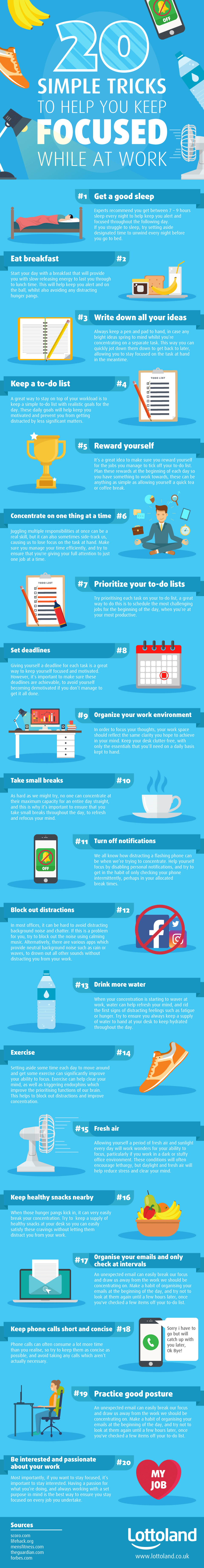 20 Simple Tricks to Help Keep You Focused at Work