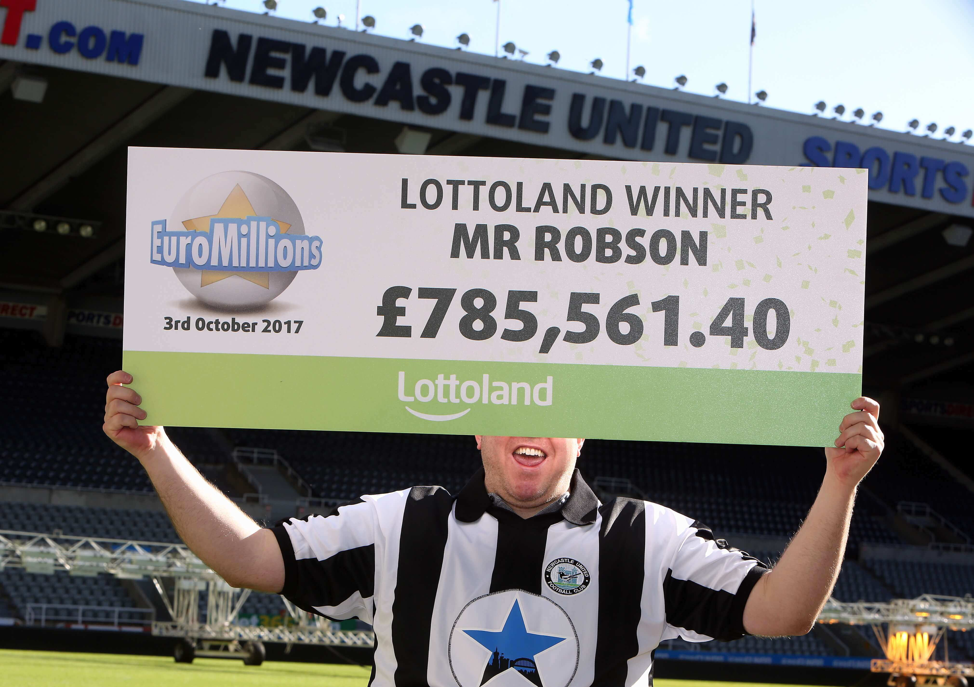 Jammy Geordie wins £785k (€880K) on EuroMillions